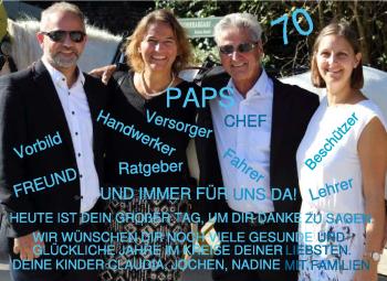 Anzeige Günter Roge