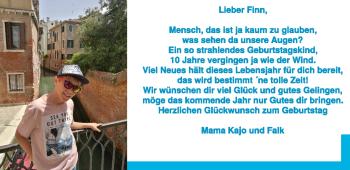 Anzeige Finn Wiesenfarth