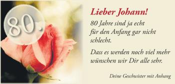 Anzeige Johann