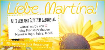 Anzeige Martina