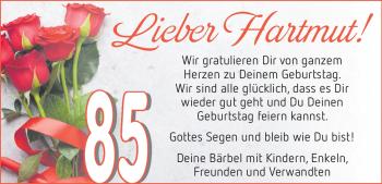 Anzeige Hartmut