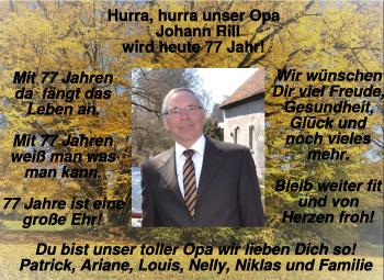 Anzeige Johann Rill