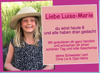 Anzeige Luisa-Marie