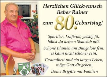 Anzeige Rainer