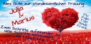 Anzeige Julia und Marius