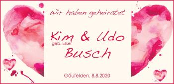 Anzeige Kim und Udo