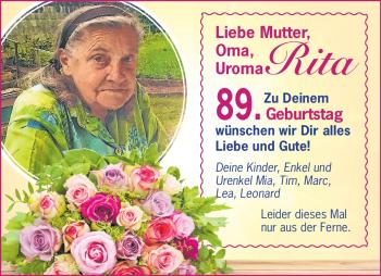 Anzeige Rita