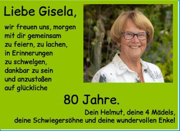 Anzeige Gisela Huber
