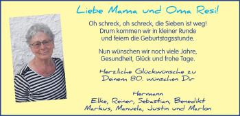 Anzeige Theresia Späth