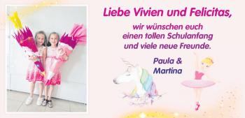 Anzeige Vivien und Felicitas