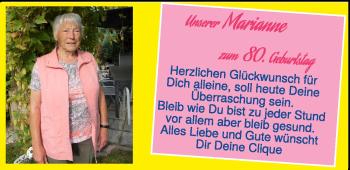 Anzeige Marianne
